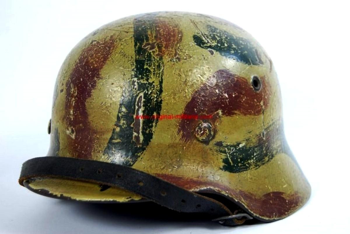 """WH/ Casco de Combate M40 Pintado de Camuflaje """"ET 62"""""""